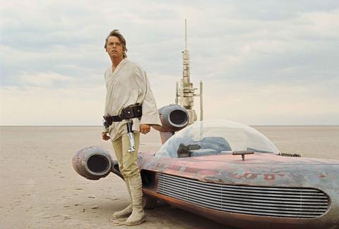 luke and landspeeder