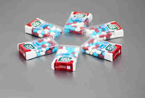 red white blue tic tacs