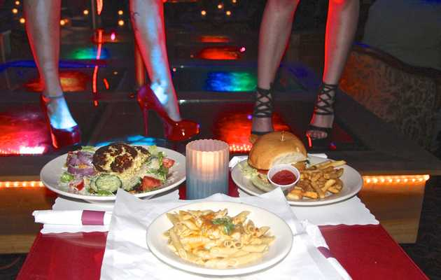How's the food at Austin's gentlemen's clubs? A three-part investigation.