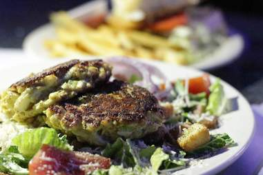 Crab Cake Salad Strip club food review ATX