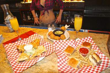 Down in Texas food Strip club food review ATX