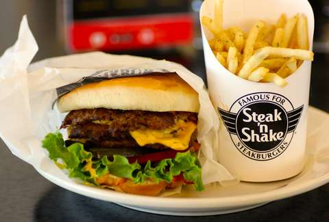 Steak and Shake burger