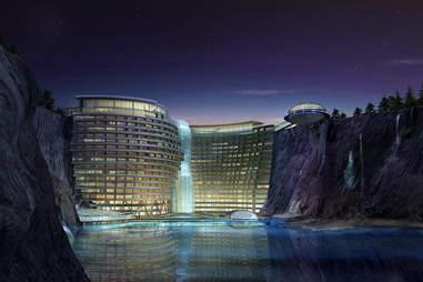 quarry hotel by night