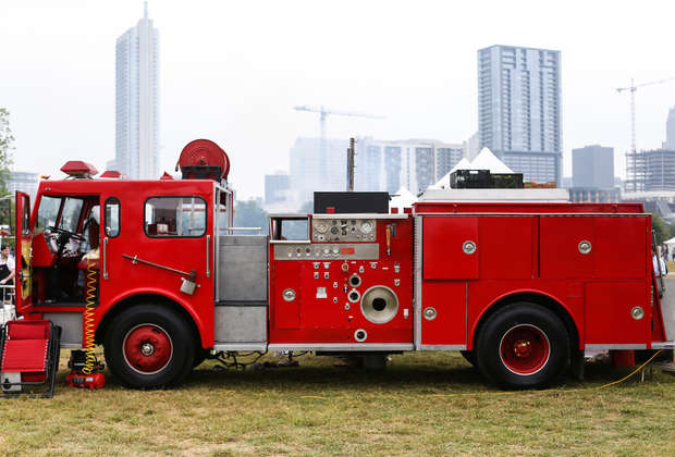 This fire truck is the ultimate tailgating vehicle, can actually put out fires