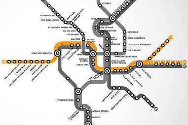 Orange Line DC Metro bar map