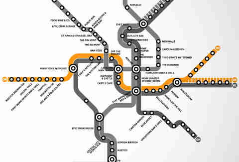 Orange Line DC Metro bar map