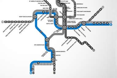 Blue Line DC Metro bar map