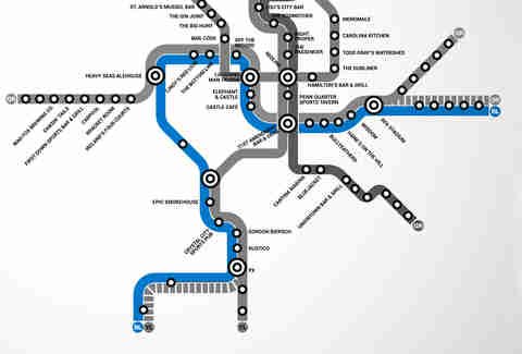Blue Line DC Metro bar map