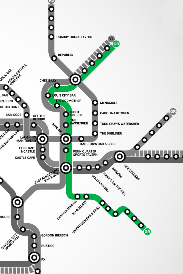 Washington dc Map With Metro Stations Green Line dc Metro Bar Map