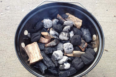 briquettes and lump charcoal
