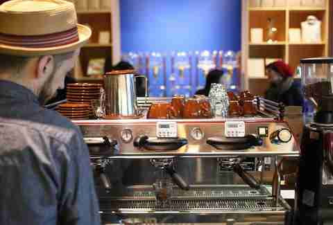Barista at Blue Bottle