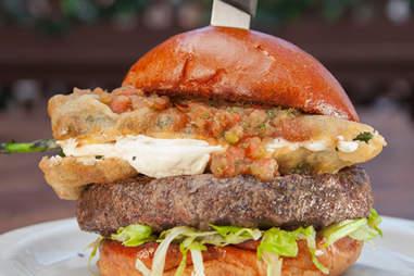 Slater's 50/50 Chile Relleno Burger