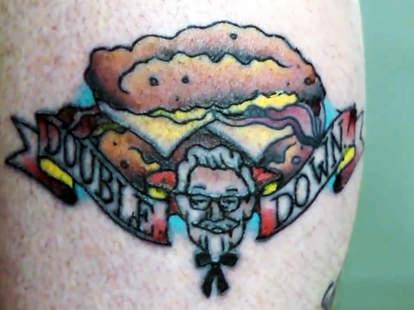 fast food tattoo kfc double down