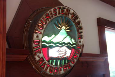 Stained glass at Tourist Club
