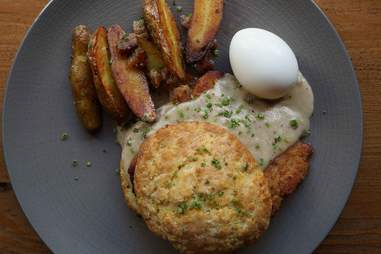 bronwyn schnitzel and biscuits