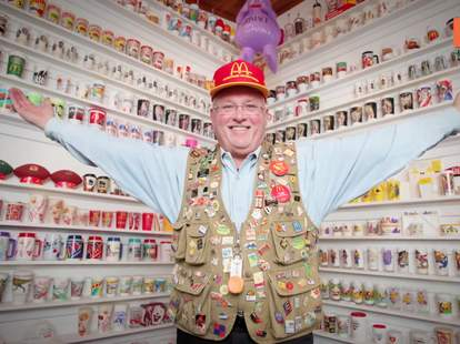 Mike Fountaine and his world's largest McDonald's memorablia collection