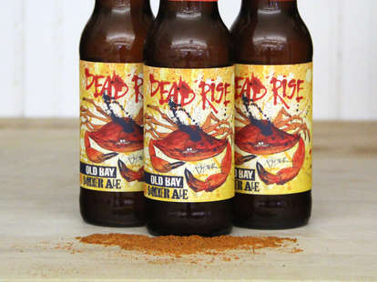 Three bottles of Old Bay Dead Rise Summer Ale