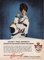 1960s Smirnoff ad in space