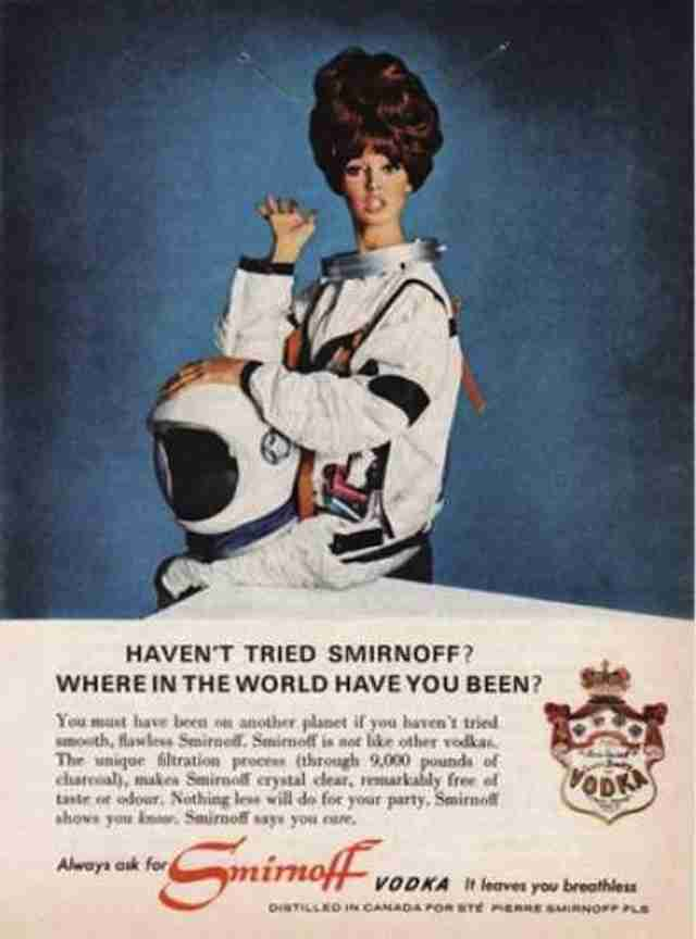 1960s Smirnoff ad in space