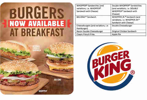 burger king breakfast