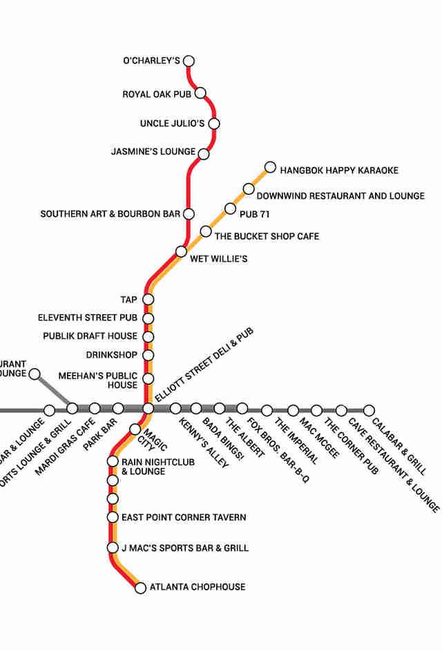 BARTA Atlantas first transit booze map Thrillist