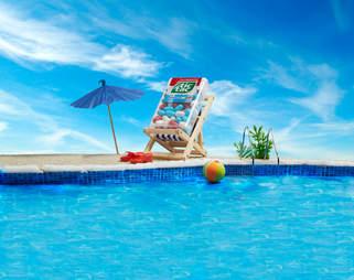 Tic Tacs chilling poolside