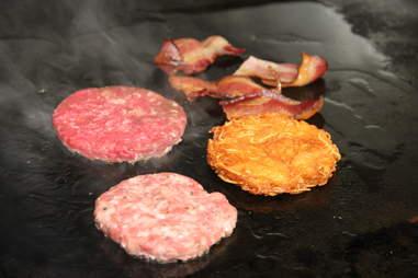 Grilling the Bluestem Burger