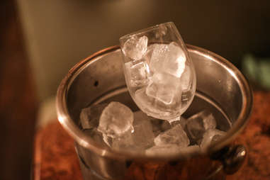 glass on ice