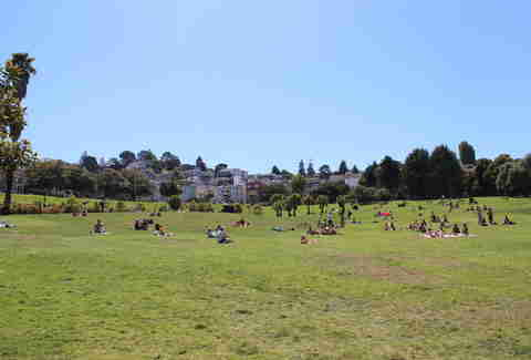 Main lawn at Dolores Park