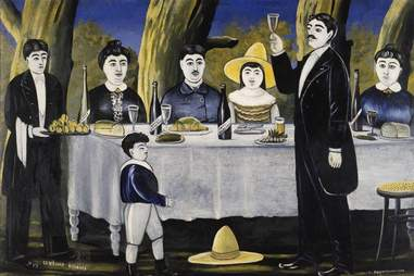 """""""A Family Celebration"""" painted by Niko Pirosmani in 1907"""