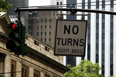 No turn sign