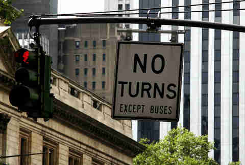 No turn sign