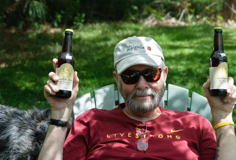 dad drinking beers