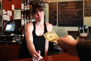 tipping a bartender