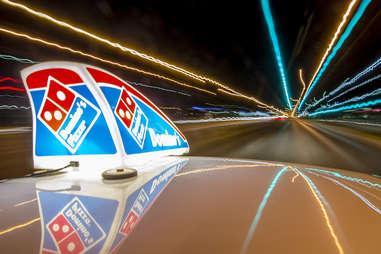 Dominos delivery car