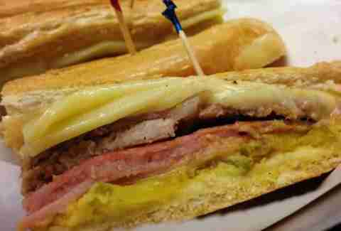Cuban sandwich aT Las Olas Cafe