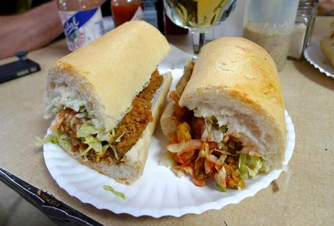 Fried shrimp po-boy Domilise's