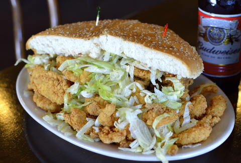 Fried seafood po-boy Parran's