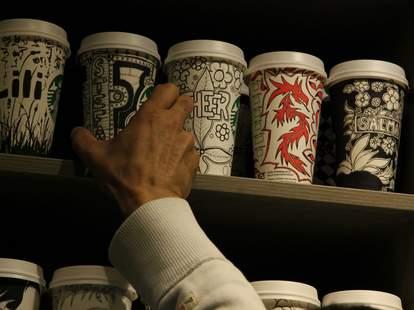 Gabriel Nkweti Lafitte Starbucks cups