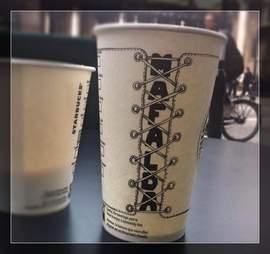 Gabriel Nkweti Lafitte Starbucks cup Mafalda