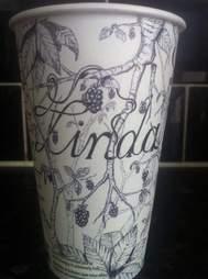 Gabriel Nkweti Lafitte Starbucks cup Linda