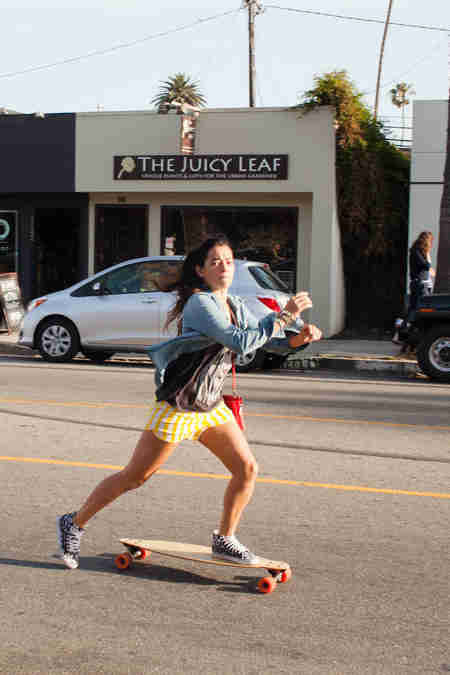 Skateboarder on Abbot Kinney
