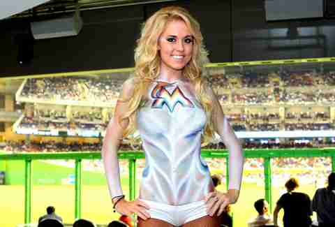 Body paint at Clevelander Marlins Park