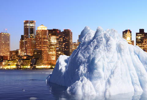 Iceberg in Boston Harbor