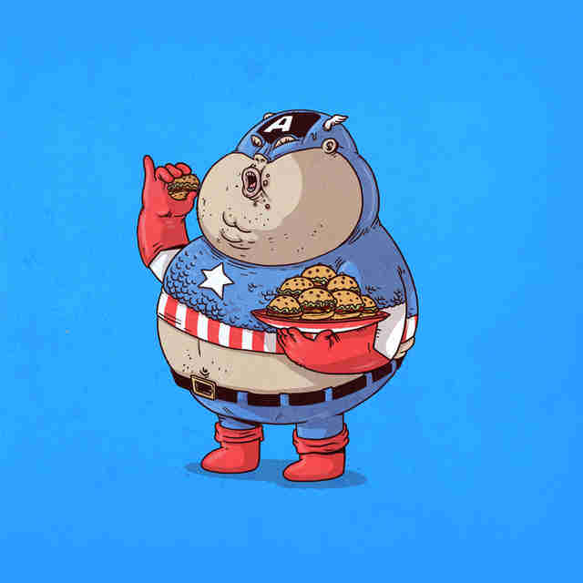 fat captain america