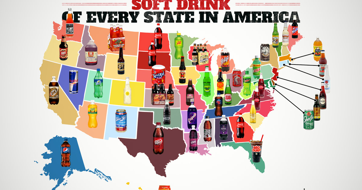 e1f0d1340c9297 Best Soft Drink In Every State - Best Soda In Every State - Thrillist