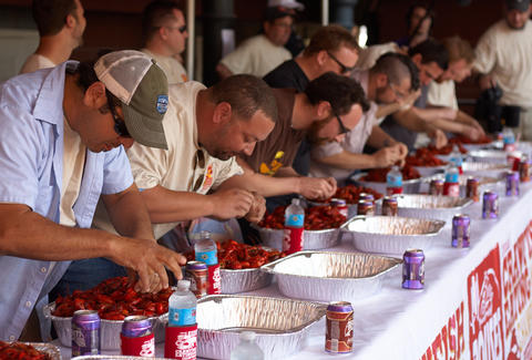 Crawfish eating competition