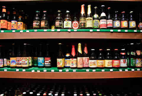 beers on a shelf