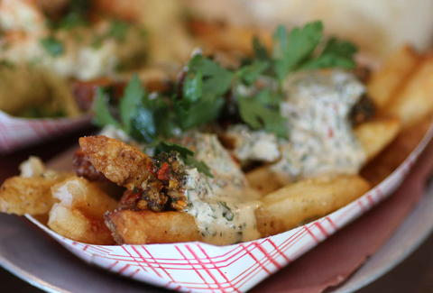 Loaded french fries at 4505 Burgers & BBQ in San Francisco, California