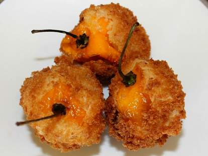 Fried habanero peppers